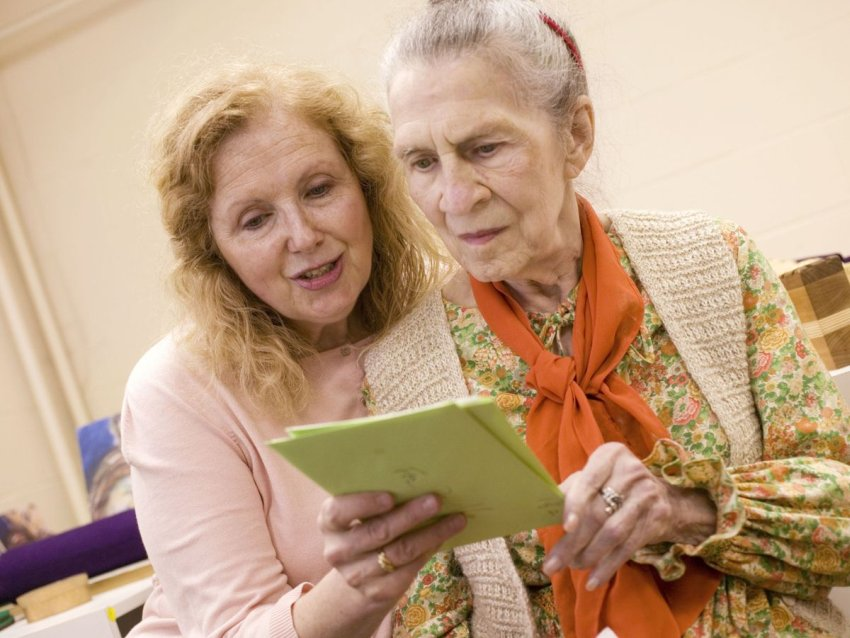 Alzheimers patient and caregiver