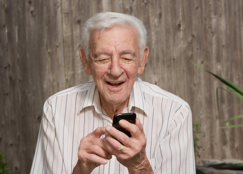 Older Man With Smartphone