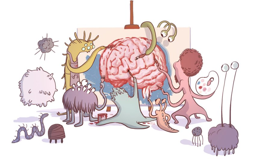 bacteria working on brain