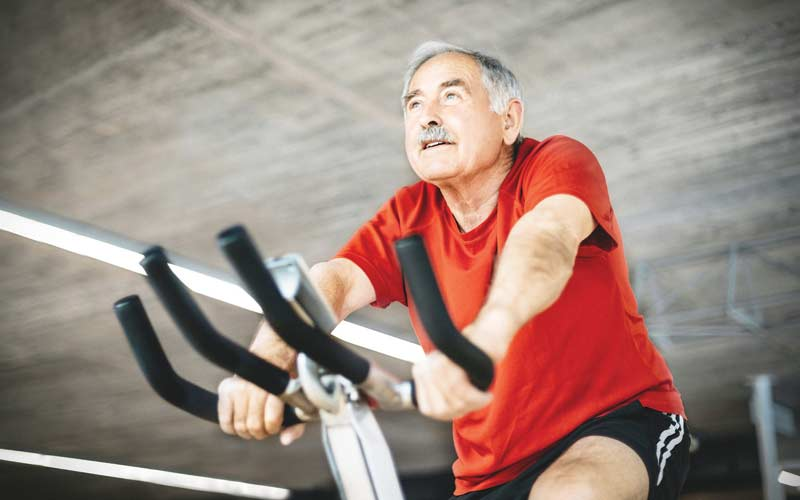elderly exercising