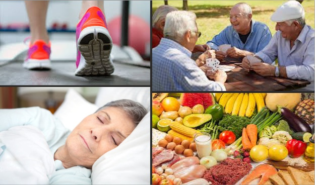 exercise sleep diet socialization