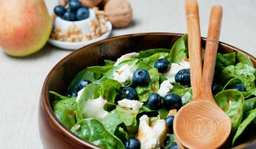 green salad with blueberries and nuts Getty