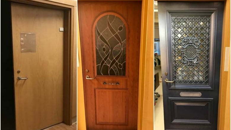 home care masked doors
