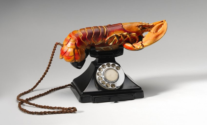 lobster telephone salvador dali national gallery of australia