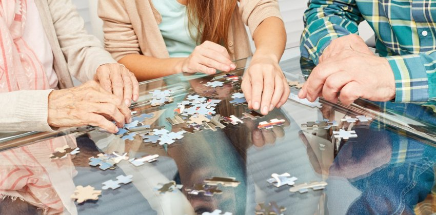 puzzle in dementia care