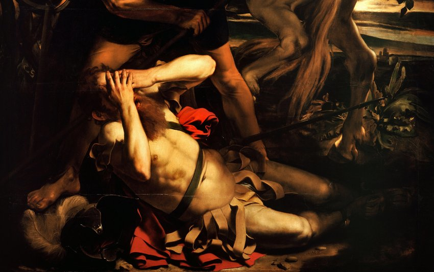 the conversion of saint paul, caravaggio, 1600-1601
